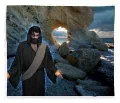Jesus Christ- And Surely I Am With You Always Fleece Blanket