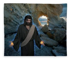 Jesus Christ- And Surely I Am With You Always Fleece Blanket