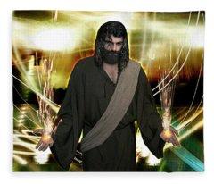 Jesus Christ- God Shines In Glorious Radiance Fleece Blanket