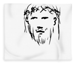 Jesus Christ Head Fleece Blanket