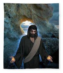 Jesus Christ- I Am With You Always Fleece Blanket