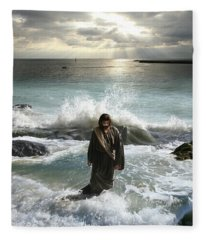Jesus Christ- I Have Come As A Light Into The World Fleece Blanket