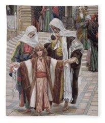 Jesus Found In The Temple Fleece Blanket