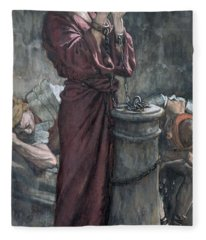 Jesus In Prison Fleece Blanket