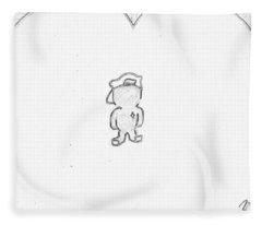 Jesus Kid /black On White Fleece Blanket