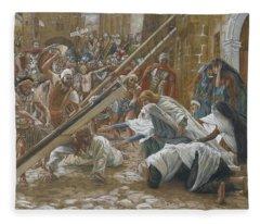 Jesus Meets His Mother Fleece Blanket