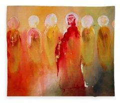 Jesus With His Apostles Fleece Blanket