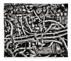 Jet Engine Fleece Blanket