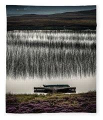 Jetty, Loch Na Maracha, Isle Of Harris Fleece Blanket