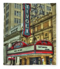Jewel Of The South Tivoli Chattanooga Historic Theater Art Fleece Blanket