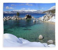 Jewels Of Winter Fleece Blanket