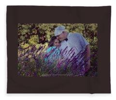 Jill Purple Fleece Blanket