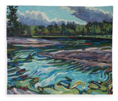 Jim Afternoon Rapids Fleece Blanket