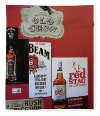 Jim Beam's Old Crow And Red Stag Signs Fleece Blanket