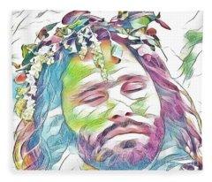 Jim Morrison Fleece Blanket