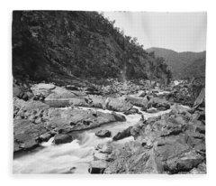 Jimenbuan Falls, Snowy River, Kerry And Co, Sydney, Australia, C. 1884-1917 Fleece Blanket