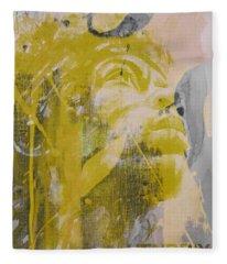 Jimi Hendrix Art  Fleece Blanket