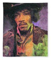 Jimi Hendrix Painting Fleece Blanket
