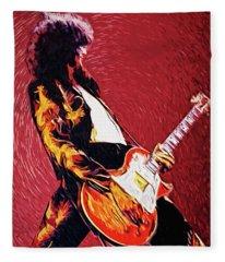 Jimmy Page  Fleece Blanket