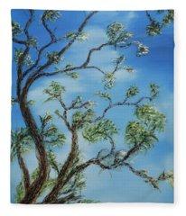 Jim's Tree Fleece Blanket