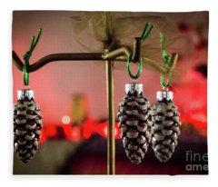 Jingle Pinecones Fleece Blanket