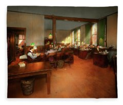 Jobs Other - Office - Its News Worthy 1899 Fleece Blanket