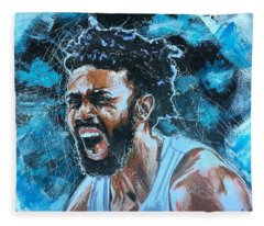 Joel Berry II Fleece Blanket