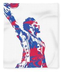 Joel Embiid Philadelphia Sixers Pixel Art 13 Fleece Blanket
