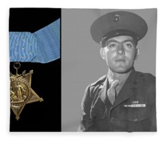 John Basilone And The Medal Of Honor Fleece Blanket