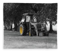 John Deere 620 In Selective Color Fleece Blanket