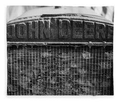 John Deere In Monochrome Fleece Blanket