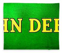 John Deere Nameplate Fleece Blanket