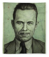 John Dillinger Fleece Blanket