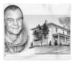 John Glenn Birth Place 2 Fleece Blanket