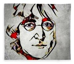 John Lennon Fleece Blanket