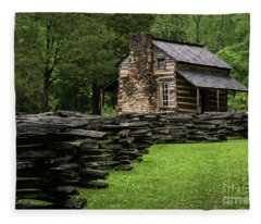 John Oliver Cabin Fleece Blanket