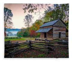 John Oliver Place In Cades Cove Fleece Blanket