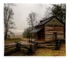 John Oliver's Cabin In Cades Cove Fleece Blanket