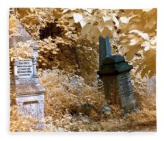 Autumnal Walk At Abney Park Cemetery Fleece Blanket