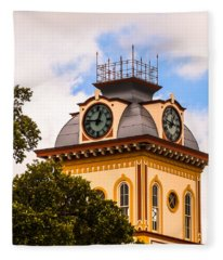 John W. Hargis Hall Clock Tower Fleece Blanket