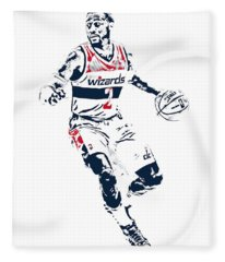 John Wall Washington Wizards Pixel Art 1 Fleece Blanket