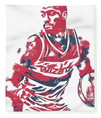 John Wall Washington Wizards Pixel Art 15 Fleece Blanket