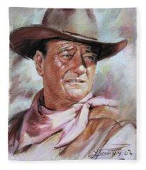 John Wayn Fleece Blanket