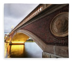 John Weeks Bridge Charles River Harvard Square Cambridge Ma Fleece Blanket