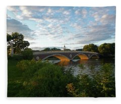 John Weeks Bridge In Harvard Square Cambridge Fleece Blanket