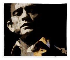 Johnny Cash - I Walk The Line  Fleece Blanket