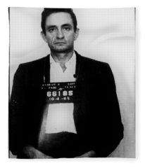 Johnny Cash Mug Shot Vertical Fleece Blanket