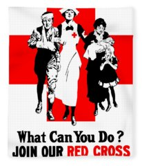 Join Our Red Cross Fleece Blanket