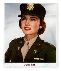 Join The Army Nurse Corps Fleece Blanket