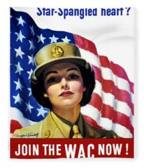 Join The Wac Now - World War Two Fleece Blanket
